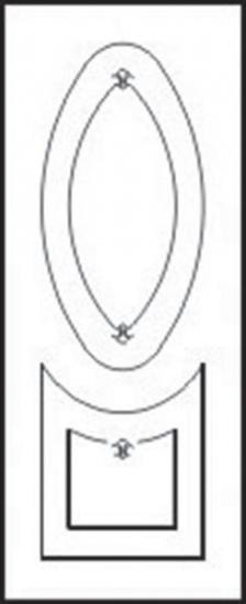 Накладка МДФ «Бриз» модель 144